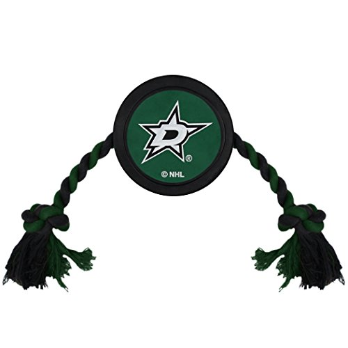 NHL Dallas Stars Puck Toy for Dogs & Cats. Play Hockey with Your Pet with This Licensed Dog Tough Toy Reward!