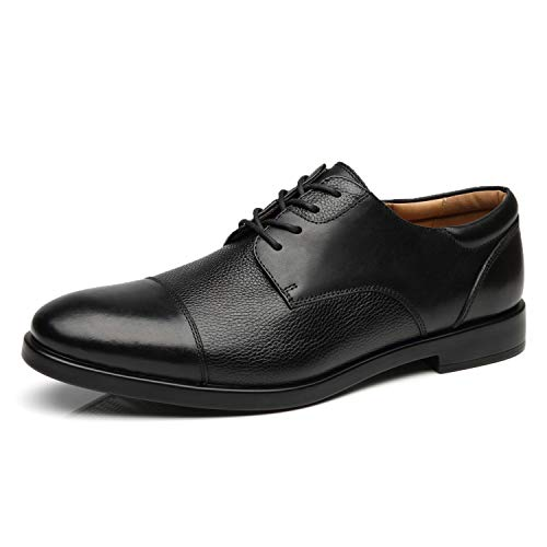 La Milano Mens Wide Width Cap Toe Leather Lace-up Oxford Comfortable Formal Extra Wide Dress Shoes EEE