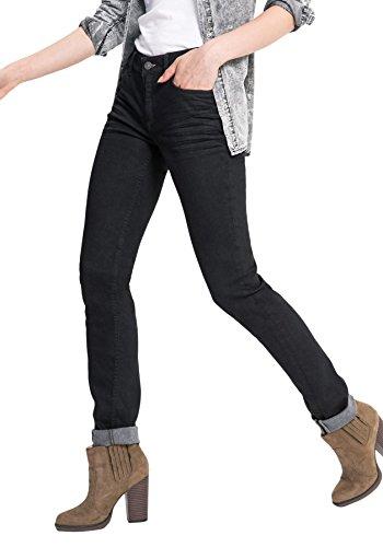 Premium Skinny Wash Para Schwarz Black 9943 Mujer Monroe His Jeans 9943 Vaqueros q1S84qgp7