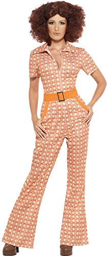 Ladies Authentic Hippy Hippie 60s 70s Woodstock Soul Train Carnival Fancy Dress Costume UK 8-22 Plus Size (UK -
