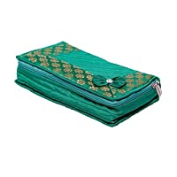 Kuber Industries Cotton Quilted Jewellery Box
