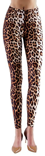 Lush Moda Extra Soft Leggings with Designs- Variety of Prints - Leopard (Leopard Print Leggings)