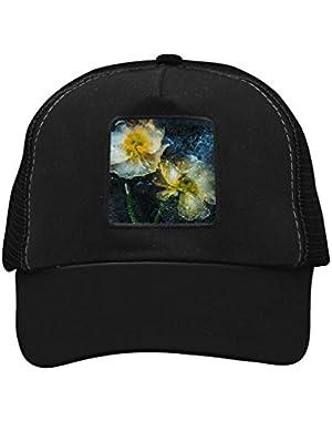 Unisex Ice Water Flower Adjustable Classic Hiphop Hat Baseball Cap Snapback Dad Hat