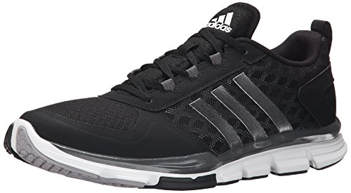 adidas Performance Men's Speed Trainer 2 Training Shoe, Black/White/Carbon Metallic, 10 M US