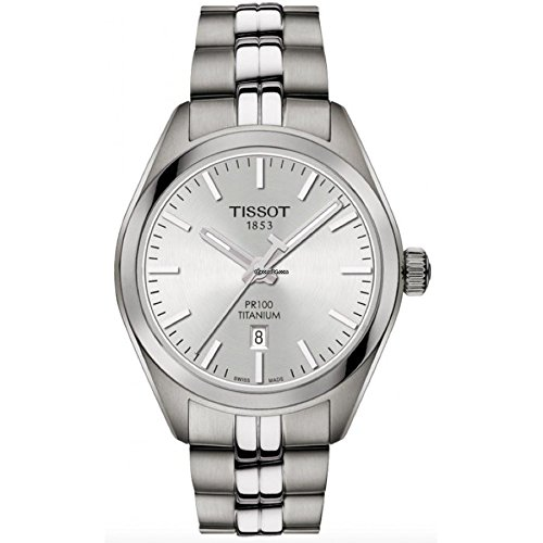 Tissot T101.210.44.031.00 Women's Watch PR 100 Silver 33mm Titanium