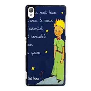 Customize Cell Phone Case Sony Xperia Z2 Case Cover Black Cartoon The Little Prince 12QW4684915