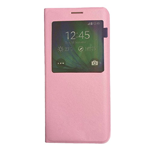Galaxy S6 Edge Plus Case, S6 Edge Plus Flip Cover, Huijukon Premium View Window Leather Flip Cover[Slim Fit] Folio Case with Auto Sleep/Wake Function for Samsung Galaxy S6 Edge Plus/S6 Edge+ (Pink)