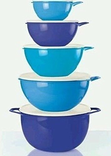 Tupperware Thatsa Bowls 5 piece Set in Salt Water Taffy, Raindrop Blue and Berry Bliss colors New 2016