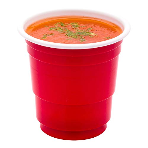 RW Base Red Disposable Plastic Party Cup 2 ounce 500 count box