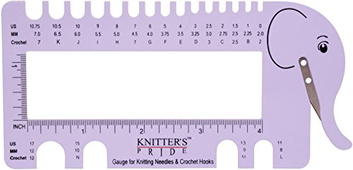 Knitter'S Pride Kp800224 Needle & Crochet View Sizer W/ Yarn Cutter-Lilac