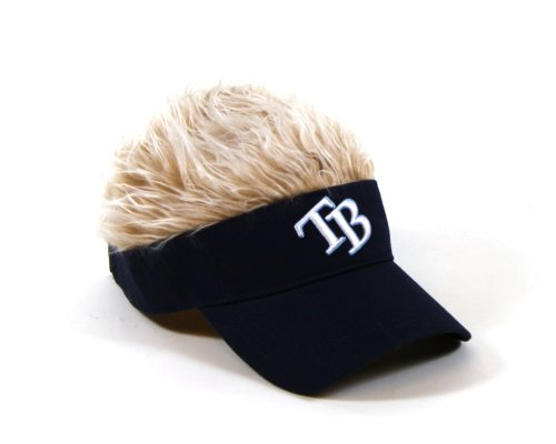 MLB Tampa Bay Rays Flair Hair Adjustable Visor, Navy