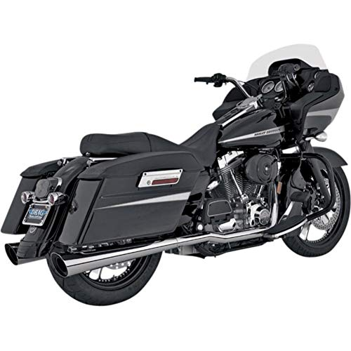 Slash Cut Slip Ons - Vance and Hines Tapered Slash Cut Slip-On Exhaust for Harley Davidson 1995-2014 - One Size