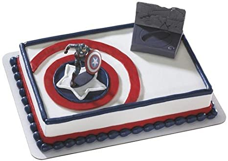Amazoncom Captain America Avenger Cake Decorating Kit Toys Games
