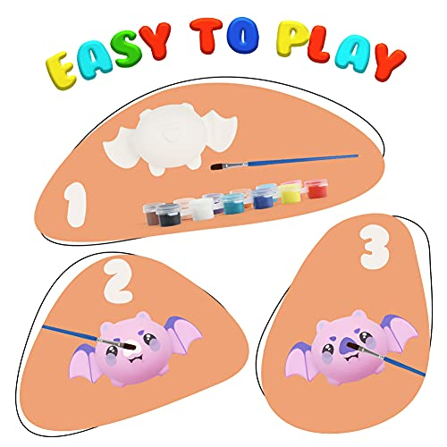 LovesTown 5 PCS DIY Halloween Squishies, Halloween Squishy Coloring Craft Kit Make Your Own Halloween Squishy Kids Halloween Crafts for Halloween Thanksgiving Party Favors
