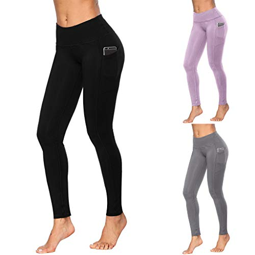 Excursion Sports Gym Pants with Phone Pocket for Women, High Waist Tummy Control Running Leggings, Butt Lift Athletic Tights for Work-Out Fitness Cycling Yoga Dancing