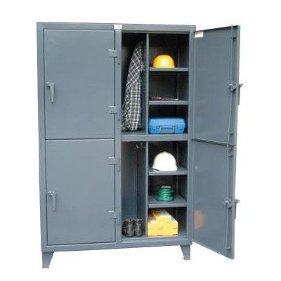 Strong Hold Products 46-24-2TPL Dark Gray 4 Door Standard Locker, 12 gauge, 50'' Width x 24'' Diameter x 72'' Height by Strong Hold