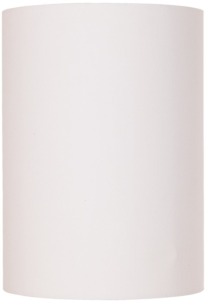 White Cotton Drum Cylinder Shade 8x8x11 (Spider) by Brentwood