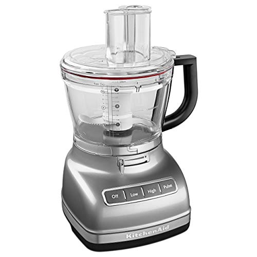 KitchenAid KFP1466CU 14-Cup Food Processor with Exact Slice System and Dicing Kit – Contour Silver
