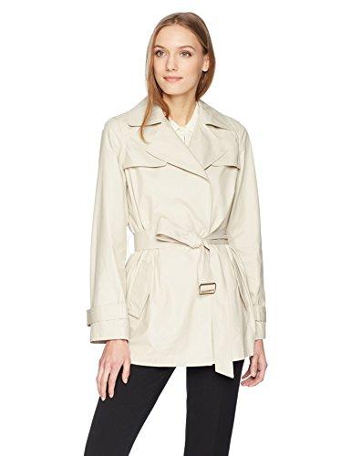 Calvin Klein Women's Trench Jacket with Belt, Latte, S ()
