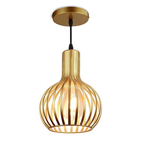 DLLT Brass Pendant Ceiling Lights Fixtures, Classic Pendant Lamp, E26 Industrial Metal Hanging Pendant Led Lighting for Kitchen, Bedroom, Dining Room, Hallway, Loft, Restaurant, Bar, Entryway (Classic Lighting)