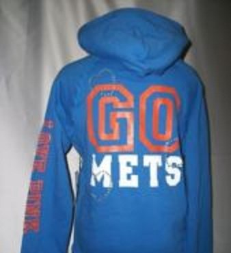 d3b9b10ace243 Victoria's Secret Pink Mets PULL-OVER Hoodie Jacket NY Size L, Girls /  Junior Size