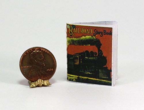 Dollhouse Miniature 1:12 Readable Antique Repro Railroad Train Story ()