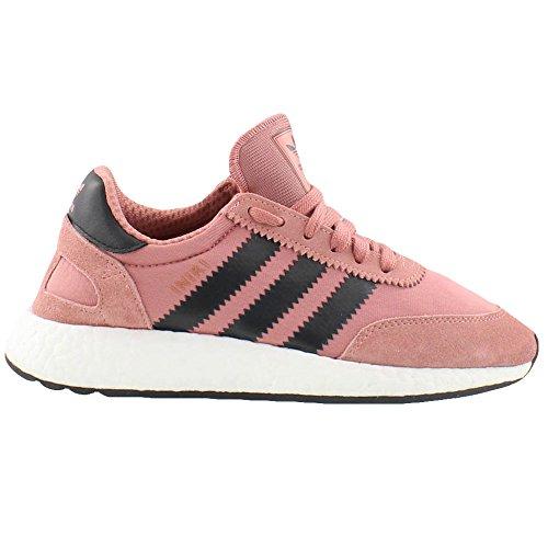 Adidas Iniki Runner Womens in Raw Pink/Core Black, 6