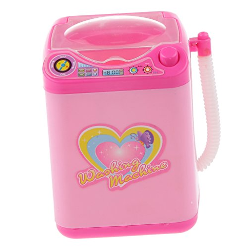 [해외]【 무상 표 품 】 플레이 시뮬레이션 가정용 기구 모형 놀이 놀이 장난감 어린이 선물 평점 패턴 핑크-세탁기 / [Unbranded Product