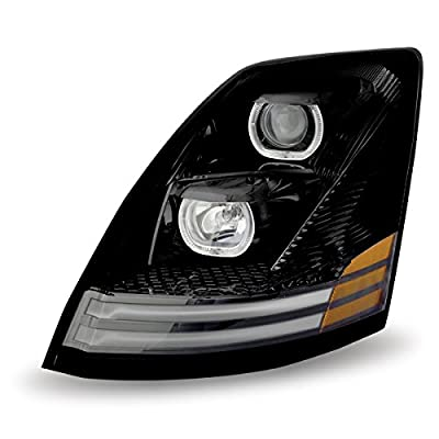 Volvo VNL Halogen Headlight Assembly with LED (Driver Side)