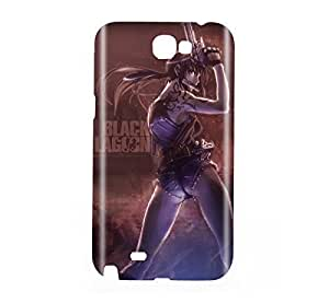 Black Lagoon Revy Snap on Plastic Case Cover Compatible with Samsung Galaxy Note II 2
