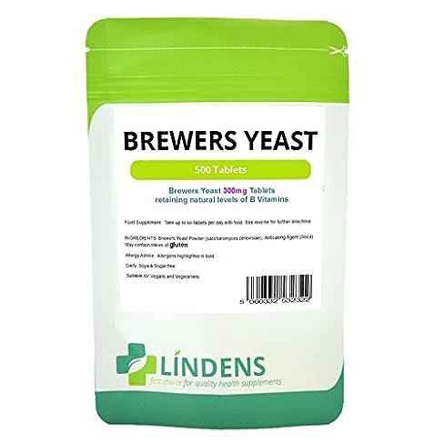 Levadura 300 mg 2-PACQUETE 1000 tabletas de vitamina B B1 B2 B5 B6 de cerveza Probiótico Biotina: Amazon.es: Salud y cuidado personal