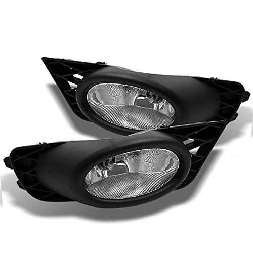 - For Honda Civic Sedan JDM Bumper Driving Clear Fog Lights Driver/Passenger Lamps with Bulbs/Switch