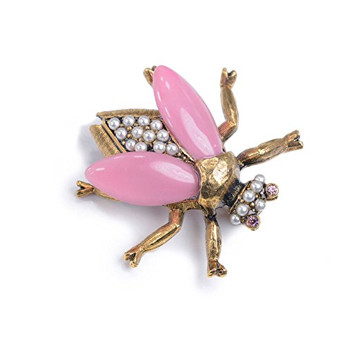 Vintage Gold Bee Bug Insect Brooch Pins (Bee Happy (Pastel))