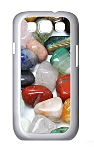 Colored River Stone Polycarbonate Hard Case Cover for Samsung Galaxy S3/Samsung Galaxy I9300 White