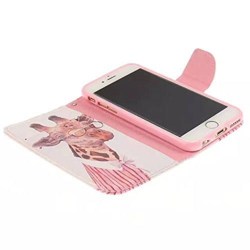 """Coloré Motif PU Cuir portefeuille Housse Etui pour Apple iPhone 6s / iPhone 6 4.7"""" Case Coque Effacer Protection Flip Cover avec carte de crédit Slots (T06#)"""