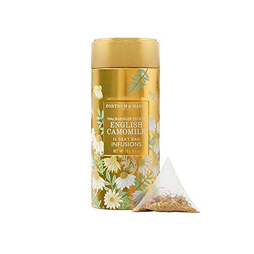 Fortnum and Mason British Tea, English Camomile Infusion Tin, 15 Count Silky Tea Bags (1 Pack) ()