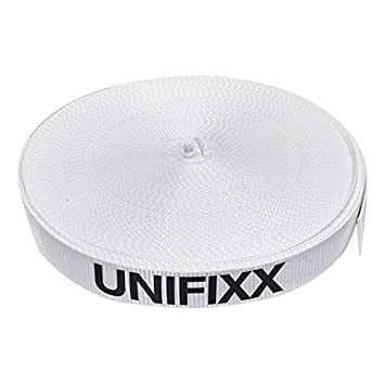 levac 4581-w435 correa de amarre de uso único - rotura 3500 daN rollo de 200 M, color blanco crudo, anchura 40 mm: Amazon.es: Bricolaje y herramientas