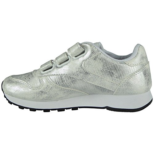 Kids Girls Running Trainers Childrens Glitter Sports Comfy Lace up Shoes Size 1-13 White DLB7nenX5u