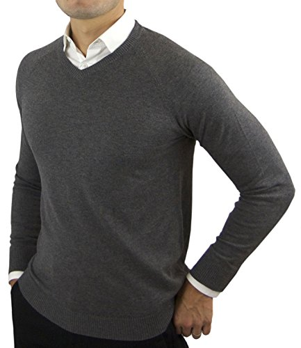 Comfortably-Collared-Mens-Perfect-Slim-Fit-V-Neck-Sweater