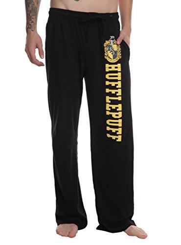 Harry Potter Hufflepuff Guys Pajama Pants Black Small