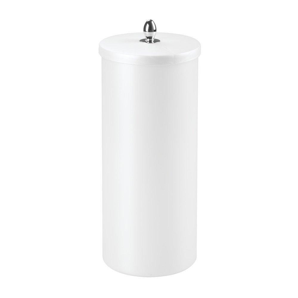 Modern free standing toilet paper holder - Interdesign Orb Free Standing Toilet Paper Roll Holder For Bathroom Storage Pearl White