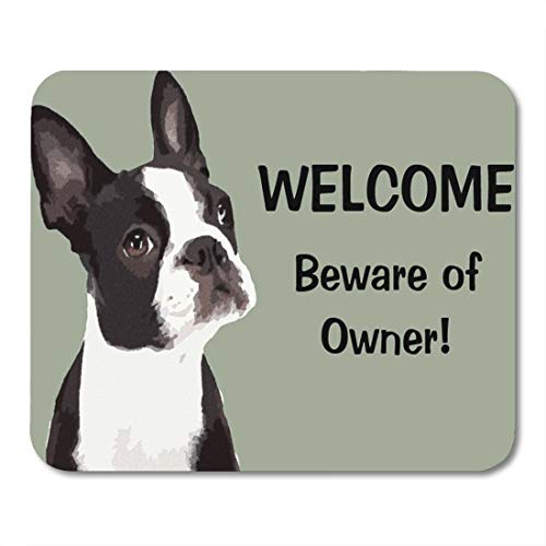Aikul Mouse Pads Dog Funny Boston Terrier Lover Animal Owner Humor Mouse Mat 9.5
