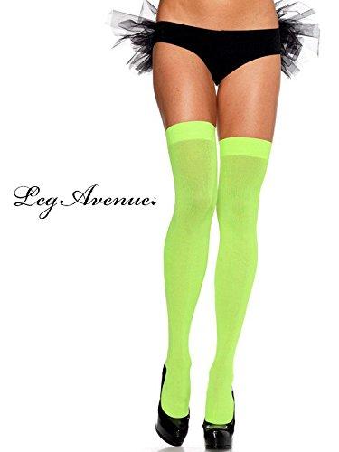 Opaque Nylon Thigh Highs Hosiery Adult