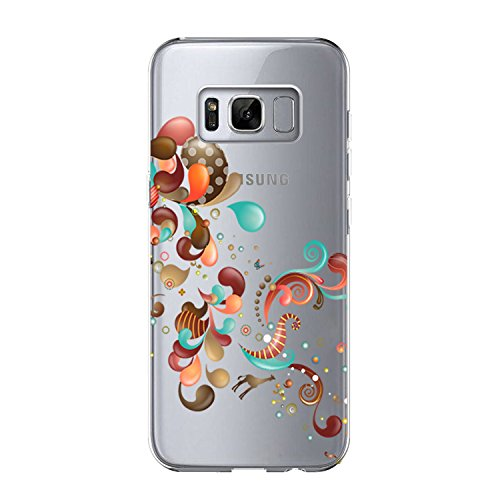 Price comparison product image Beryerbi Samsung Galaxy s8 Plus Case Transparent Flexible TPU Slim-Fit Ultra Skinny Silicone Protective Phone Cover (8, Galaxy s8 Plus)