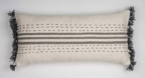 Trattini - Hand Embroidered Hand-Woven Wool Pillow Cover Made Of High Quality Durable THICK Wool ()