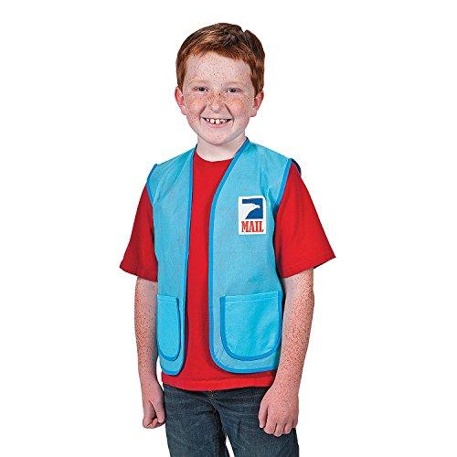 Kids Unisex Non-Woven Material Mail Carrier Vest]()