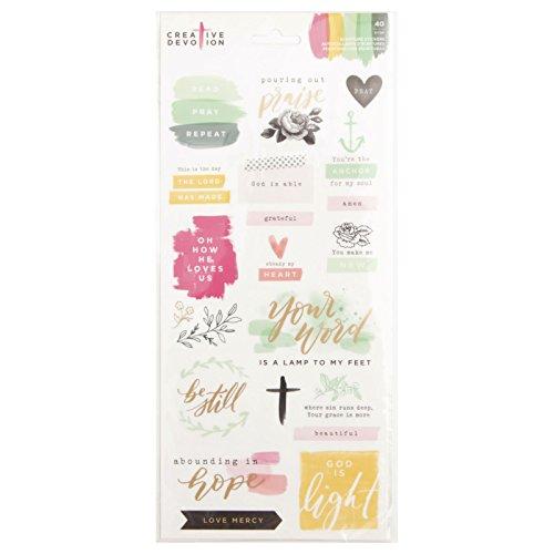 American Crafts 40 Piece 6 x 12 Inch Scripture Stickers Creative -