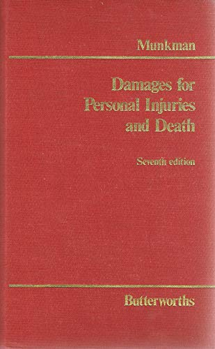 Damages for Personal Injuries and Death by John Munkman