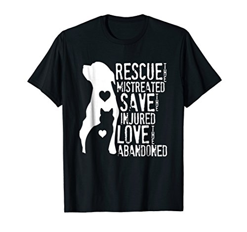 Animal Rescue, Dog Lover Cat Lover Shirt ()