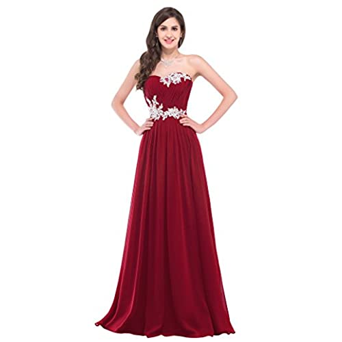 GRACE KARIN Sweetheart Long Prom Dress Red Full Length Size 4 CL6107-4